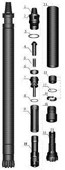 DHD345保持环高风压冲击器配件保持环